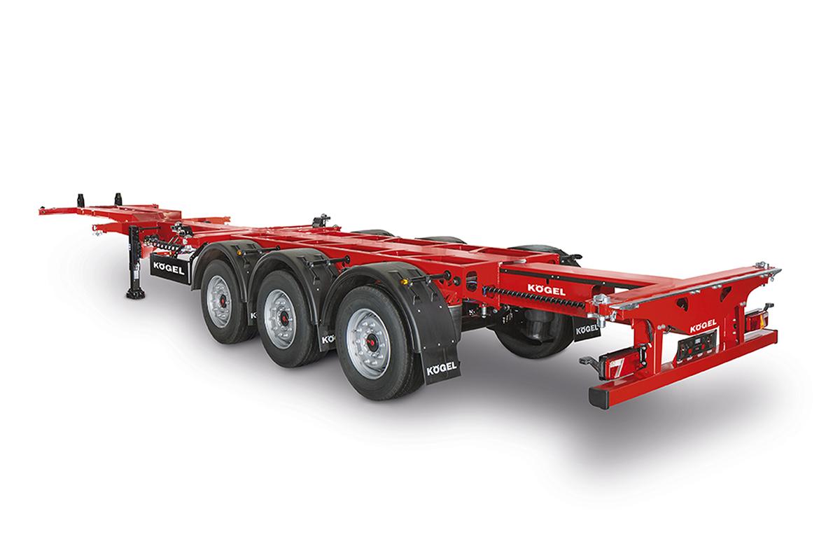 Hochstaffl Nutzfahrzeuge - Kögel Triplex Container Sattelanhänger Container Chassis